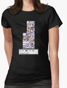 Wild MISSINGNO Appeared! Womens Fitted T-Shirt