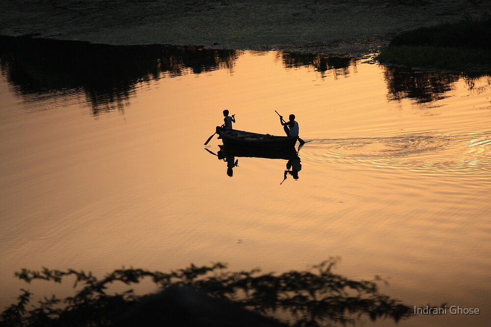 Row, row, row your boat... by Indrani Ghose