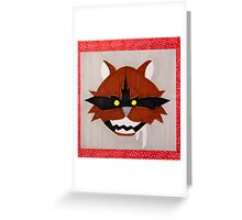 The Rabies Quilt - Fox Greeting Card