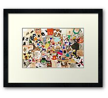 Cat's Millinery Mania Framed Print
