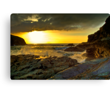 Port Gaverne Sunset Canvas Print