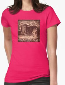 The Old Wooden Shack Womens Fitted T-Shirt