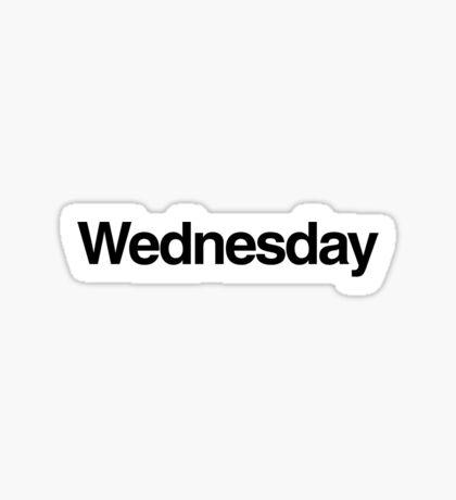 The Week - Wednesday Sticker