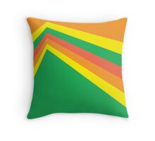 Orange yellow green red colour combo Throw Pillow