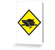 DANGER warning sign Cruise liner boat crossing Greeting Card