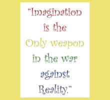 Imagination Against Reality Kids Clothes