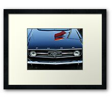 Horse With A Hint Of Flags Framed Print