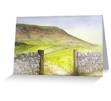 'Pendle' Greeting Card