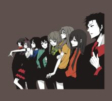 Steins gate characters anime shirt by JordanReaps