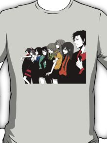 Steins gate characters anime shirt T-Shirt