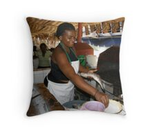 They love fish in Cameroon. Throw Pillow