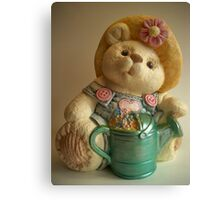'Bear cookie jar' Canvas Print