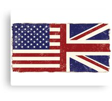 Anglo American Flag Canvas Print