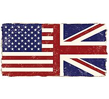 Anglo American Flag Photographic Print