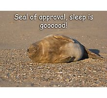 Sleep is Good! Photographic Print