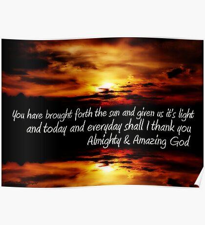 Amazing God ................... Poster