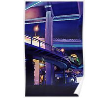 """Shanghai Skyway"" Watercolor Poster"