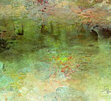 Beautiful Impressionism Landscape in Pastels Sticker