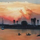 """""""Mission Beach"""" Watercolor by Paul Jackson"""
