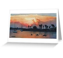 """Mission Beach"" Watercolor Greeting Card"
