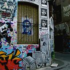Melbourne Graffiti - Fitzroy III by Louise Fahy