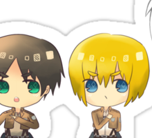 Attack on titan female titan anime manga shirt Sticker