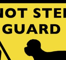 Humorous Dandie Dinmont Terrier Warning Sticker