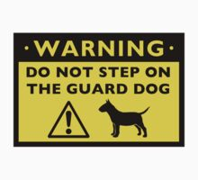Humorous Miniature Bull Terrier Warning by Jenn Inashvili