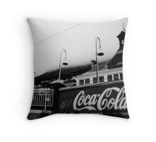 Muizenberg Train Station Throw Pillow