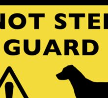 Humorous Jack Russell Guard Dog Warning Sticker