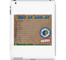 Every day Earth day  iPad Case/Skin