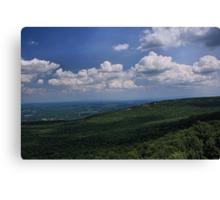 Blue Skies Green Hills Canvas Print