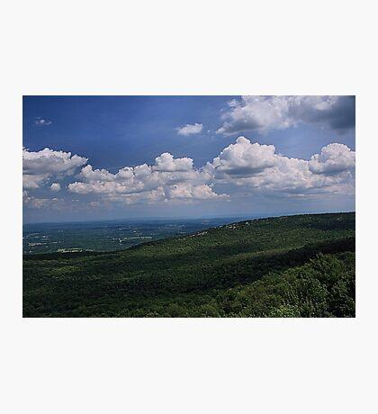 Blue Skies Green Hills Photographic Print