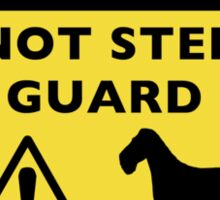 Humorous Wire Fox Terrier Guard Dog Warning Sticker