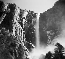 Yosemite rock and water by irisphotography