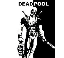 BLACK AND WHITE DEADPOOL Photographic Print