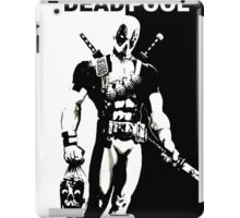 BLACK AND WHITE DEADPOOL iPad Case/Skin