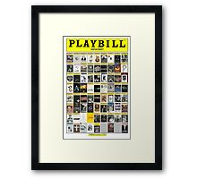 Broadway Playbill Collage Framed Print