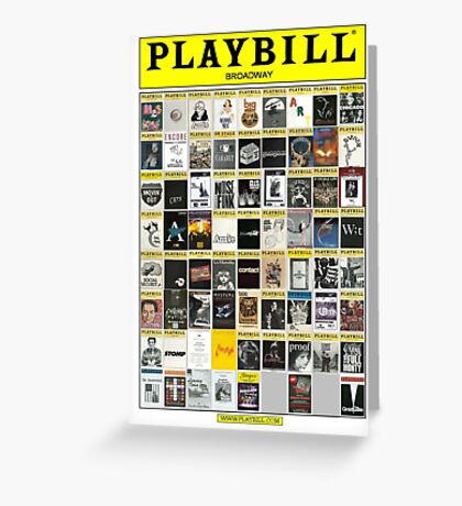 Broadway Playbill Collage Greeting Card