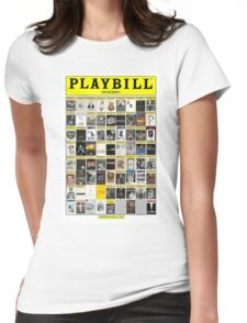 Broadway Playbill Collage Womens Fitted T-Shirt