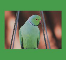Indian Ringneck Parrot in my garden Kids Clothes