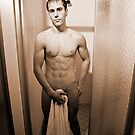 Shower Scene - Sepia by A.David Holloway