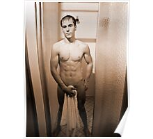 Shower Scene - Sepia Poster