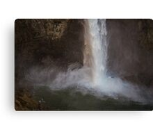 Cascading Water at Snoqualmie Falls Canvas Print