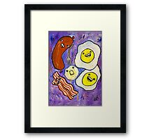 Eggs, Bacon, Grits, SAUSAGE! Framed Print