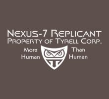 Nexus 7 Replicant - Property of Tyrell Corp. One Piece - Short Sleeve