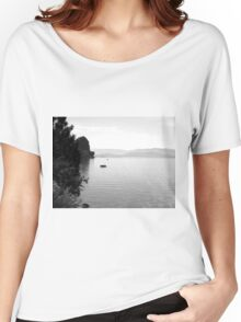 Black And White Landscape 13  Women's Relaxed Fit T-Shirt