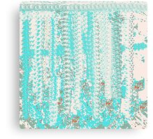 Aqua and Off-White Knit Texture Design Canvas Print