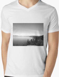Black And White Landscape 16  Mens V-Neck T-Shirt