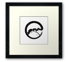 Tree Enso Framed Print